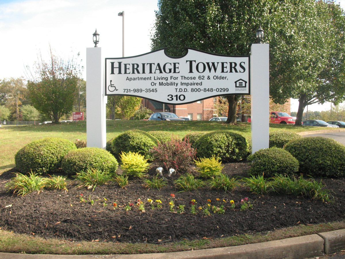 heritage towers sign