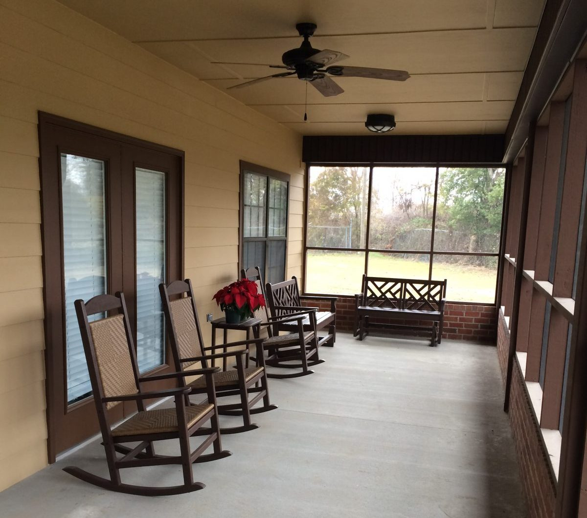 magnolia terrace porch and chairs