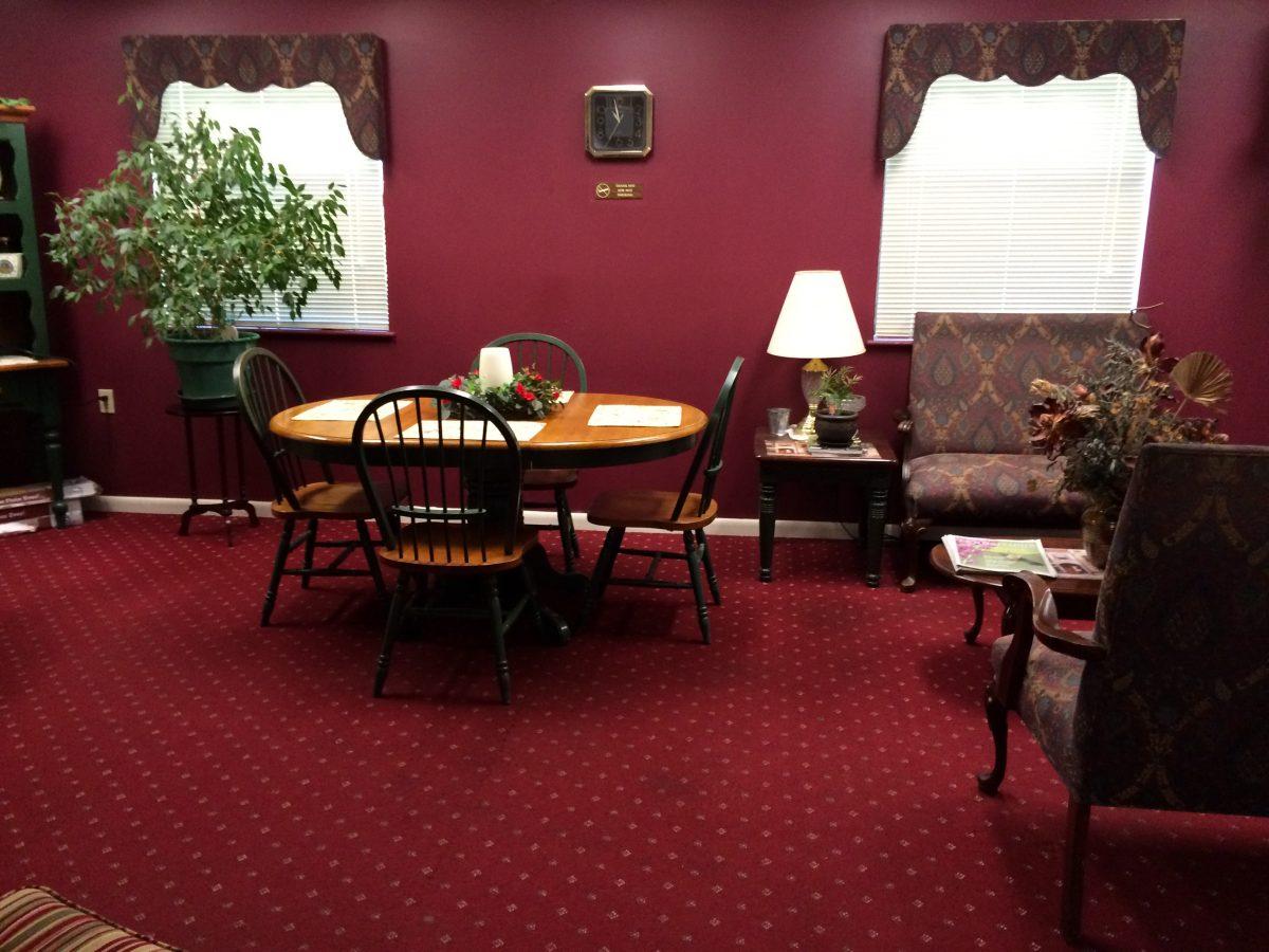 millner seating area