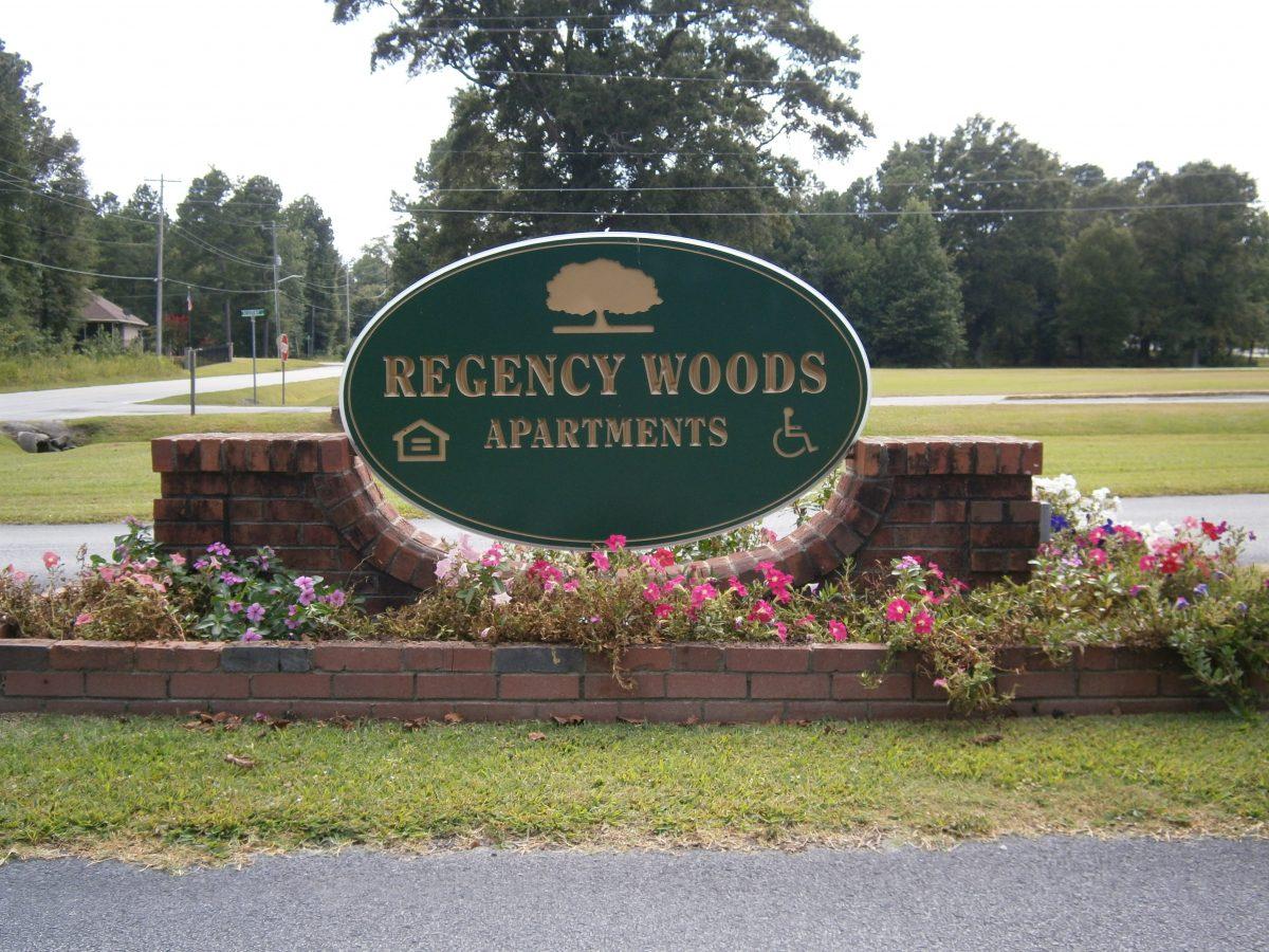 regency woods sign
