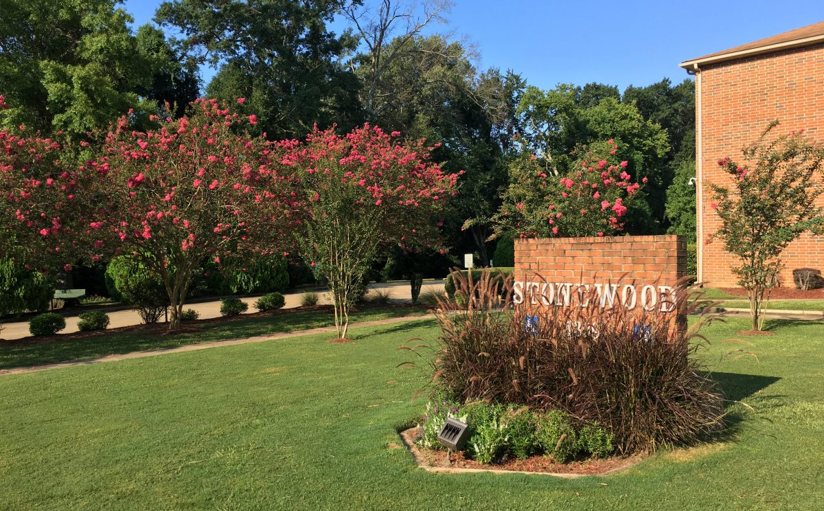 stonewood lawn and sign