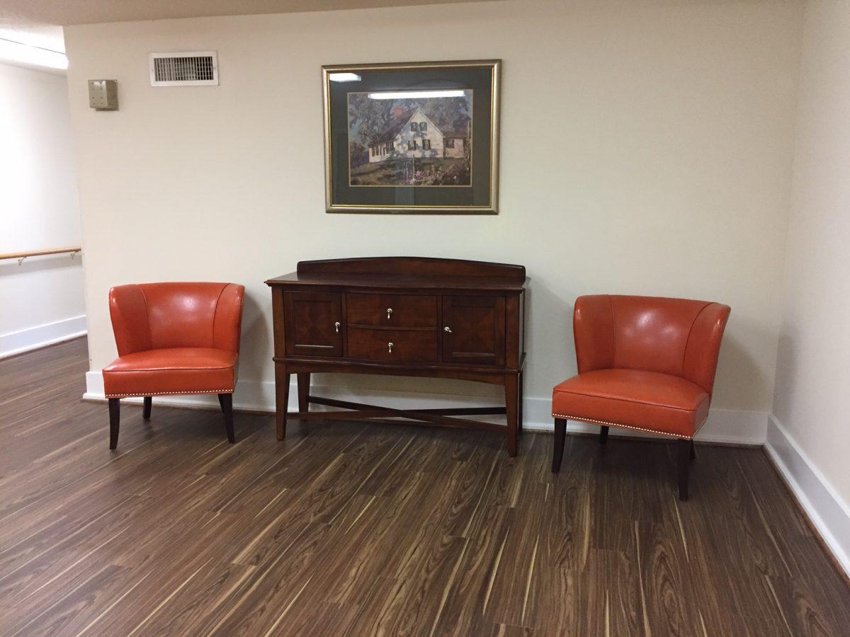 west oaks orange chairs