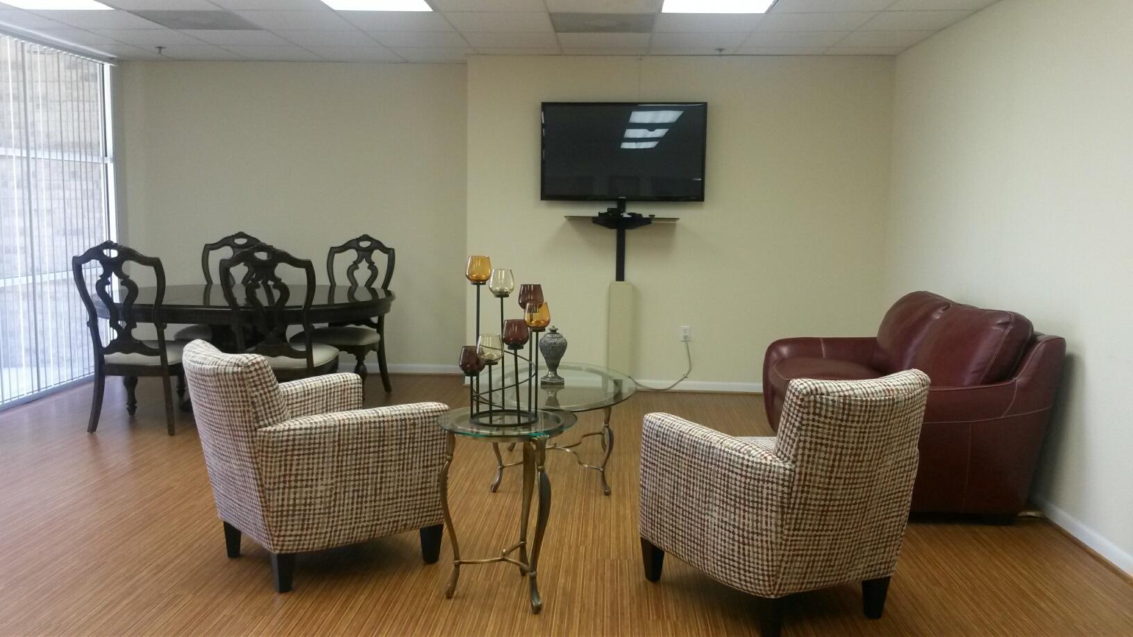West Oaks community room seating room